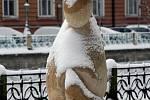 Sněhová kalamita na Hradecku v pondělí 11. ledna 2010.