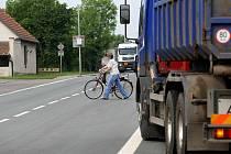 Neúnosná doprava v Novém Městě u Chlumce nad Cidlinou.