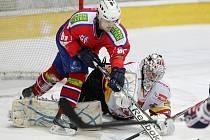 I. hokejová liga: HC VCES Hradec Králové - SK Horácká Slavia Třebíč.