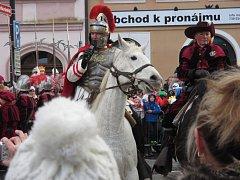 Martin na bílém koni tradičně navštívil krajské město