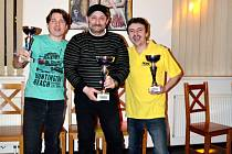 Nejlepší trio bowlingového turnaje - zleva: Martin Jezdinský, Josef Kunt, Petr Ludvík.