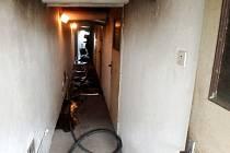 Požár v kotelně obytného domu v obci Vinary.