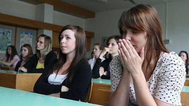 Přijímací zkoušky na střední školy.