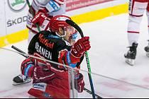DŮVOD K RADOSTI. Hokejisté Hradce Králové potřetí v řadě vyhráli, když na svém ledě zdolali brněnskou Kometu 3:0.