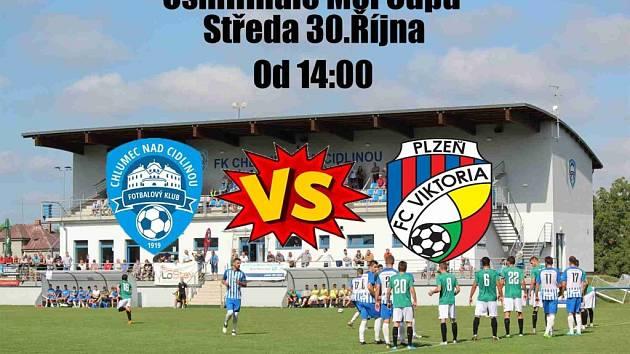 Pozvánka na osmifinále fotbalového Mol Cupu mezi Chlumcem nad Cidlinou a Plzní.