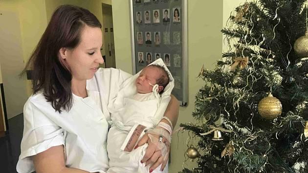 DANIEL JARKOVSKÝ se narodil 12. prosince ve 12.37 hodin. Měřil 51 cm a vážil 3720 g. Radost udělal svým rodičům Ivě Tauchmanové a Jiřímu Jarkovskému z Hustířan. Doma se těší pětiletá sestřička Terezka.