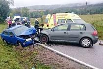 Dopravní nehoda dvou osobních automobilů u Sedloňova.