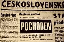 Úvodní strana Pochodně z 21. srpna 1968