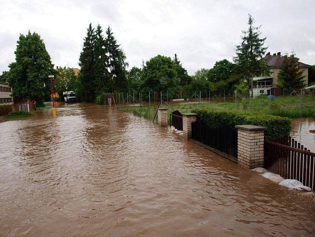 Povodeň vNovém Bydžově.