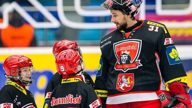 Tipsport extraliga ledního hokeje: Mountfield HK - HC Slavia Praha.