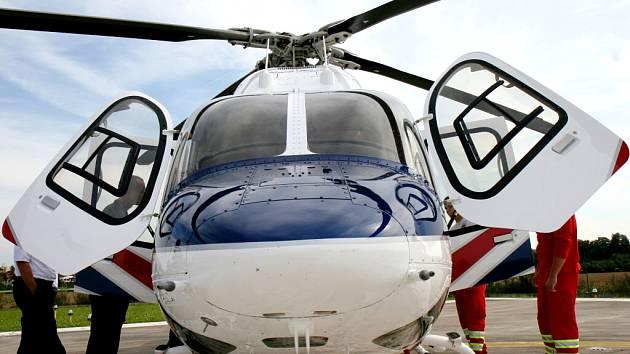 Záchranářský vrtulník Bell 429.