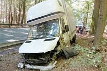 Nehoda dvou vozidel v katastru obce Vysoká nad Labem.