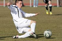 Fotbalista Tomáš Malinský v dresu FC Hradec Králové.