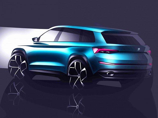 Designová studie SUV Škoda VisionS.