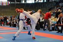 Grand Prix karate na zimním stadionu v Hradci Králové.