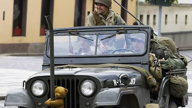 Mise Velichovky - rekonstrukce jízdy US Army.
