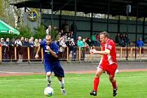 Krajský přebor ve fotbale: TJ Dobruška - FK Chlumec nad Cidlinou.