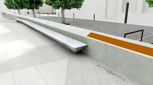 Tvar laviček vychází z architektonického pojetí celého náměstí.