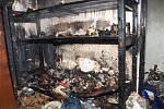 Požár rodinného domu v Černilově.