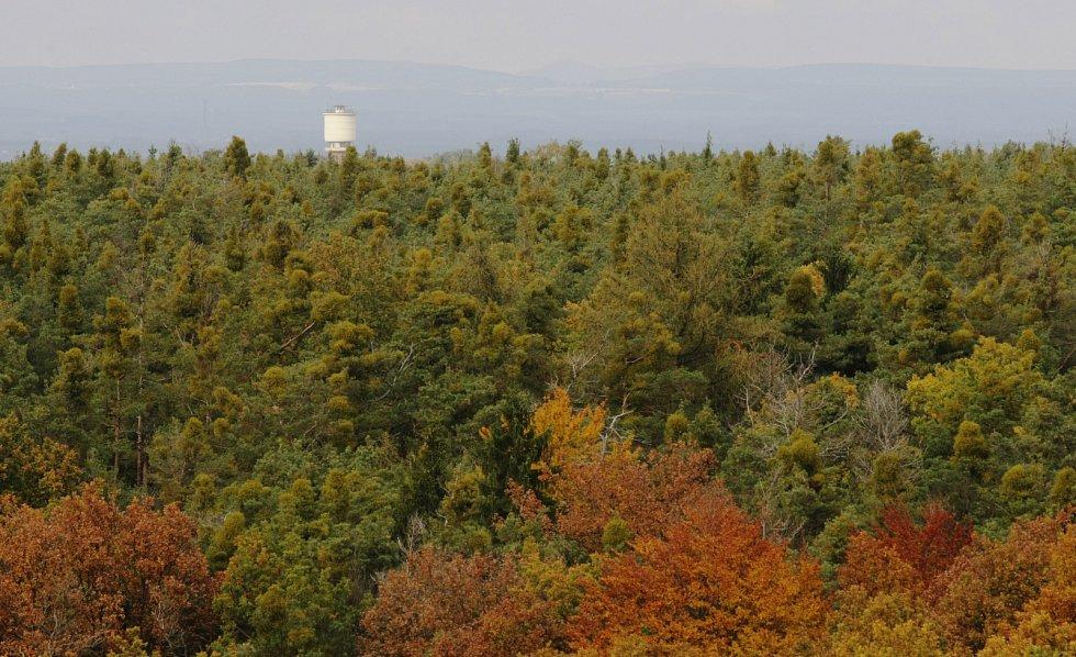Rozhledna na kopci Milíř u Vysoké nad Labem.