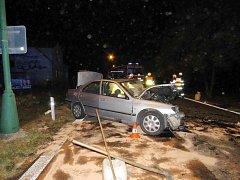 Tragická dopravní nehoda u Třebechovic pod Orebem.