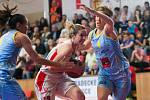 Ženská basketbalová liga - finále play off: TJ Sokol Hradec Králové - ZVVZ USK Praha.
