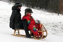Děti si užívají sněhu a prázdnin