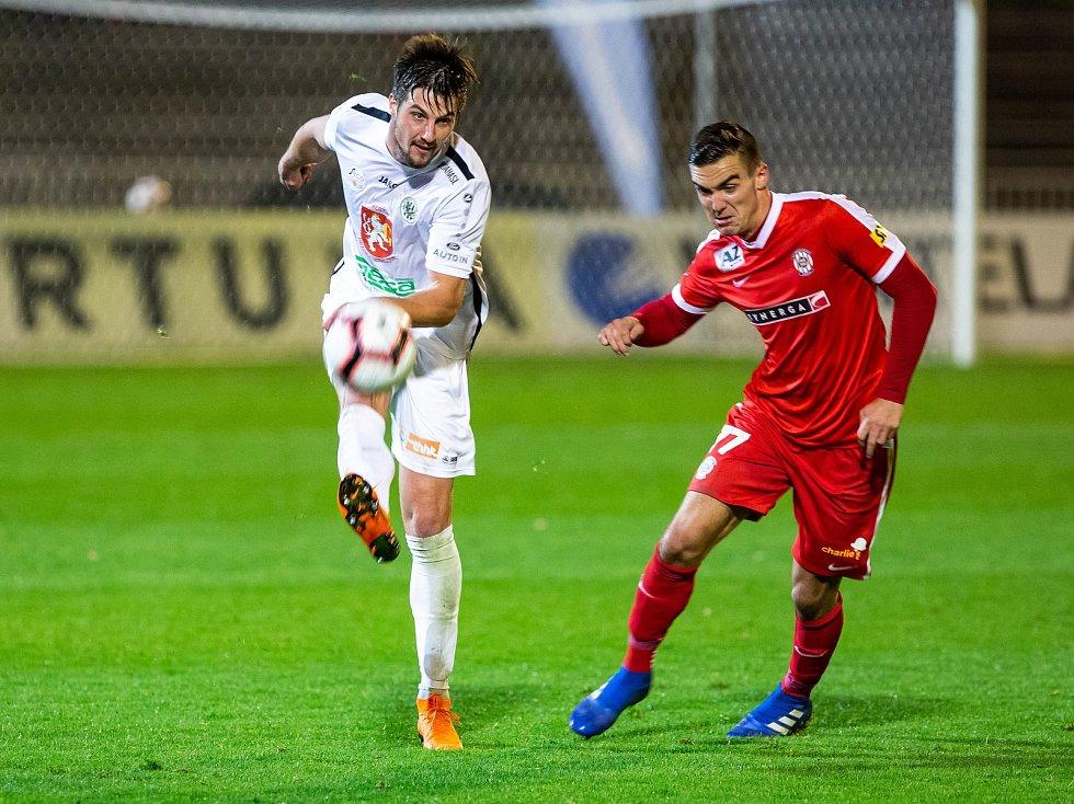 Fotbalová FORTUNA:NÁRODNÍ LIGA: FC Hradec Králové - FC Zbrojovka Brno.