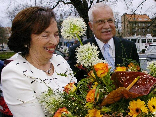 Prezidentský pár v Hradci
