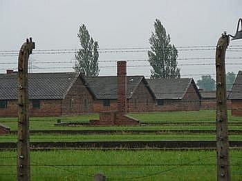 Bývalý koncentrační tábor v Osvětimi.