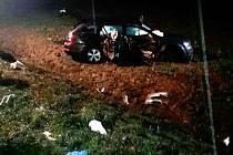 Tragická dopravní nehoda v katastru obce Roudnice.