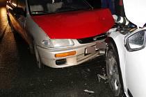 Dopravní nehoda dvou osobních automobilů v Plačicích.