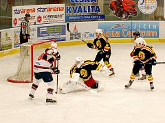 Krajský hokejová liga: HC Jičín - Stadion Nový Bydžov.