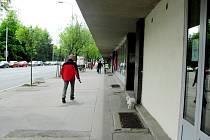 Znečištěné okolí domů na rušné Pospíšilově třídě v Hradci Králové.
