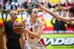 Ženská basketbalová liga - čtvrtfinále play off: TJ Sokol Hradec Králové - BLK Slavia Praha.