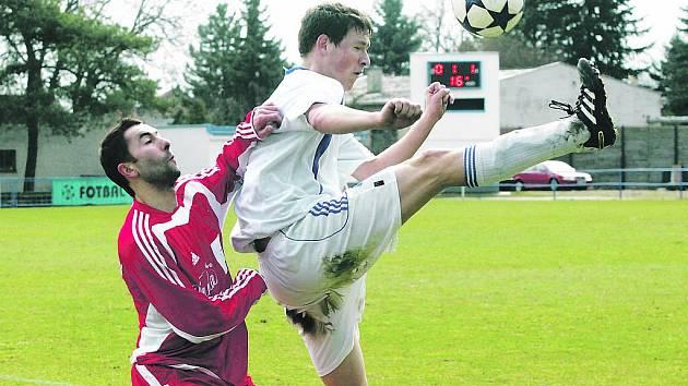 Fotbal, divize C: Nový Bydžov - Dvůr Králové. Ilustrační foto