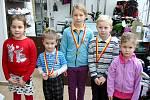 Novoroční golfový turnaj dětí na simulátorech v Indoor Fomei Hradec Králové.