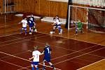 Z halového turnaje mládeže ve fotbale v hradecké Orlické Kotlině.