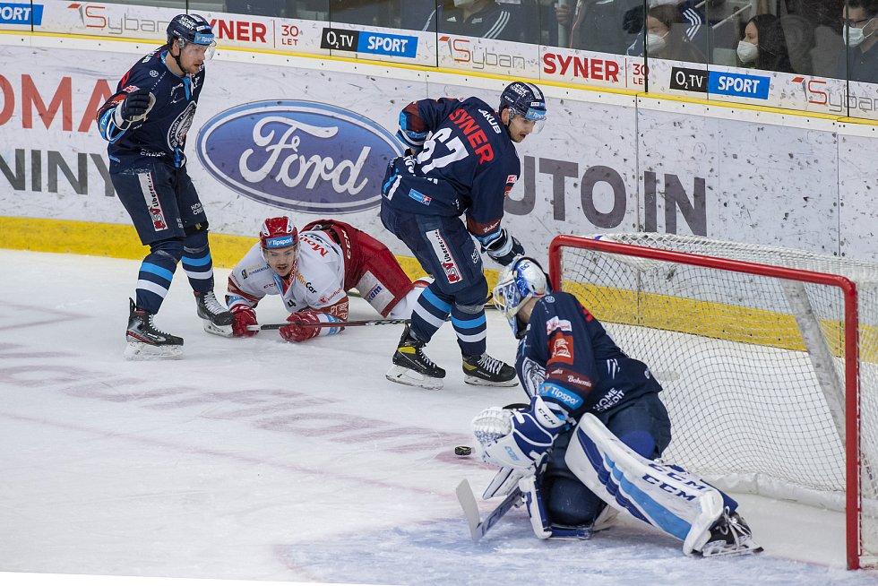 Čtvrtfinále play off hokejové extraligy: Bílí Tygři Liberec - Mountfield HK.