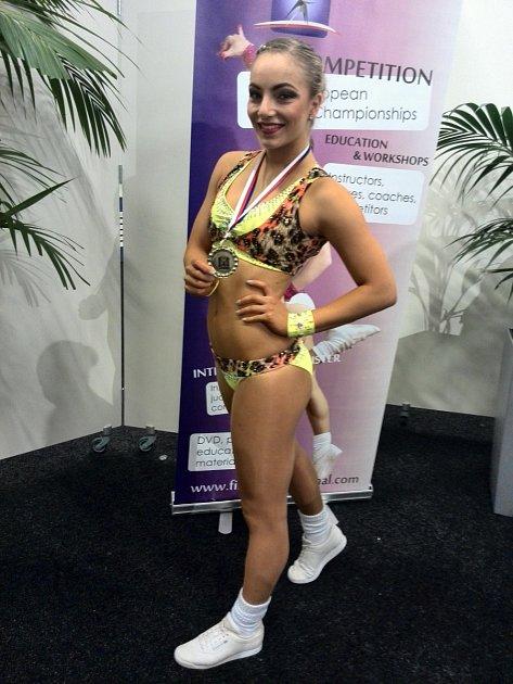 Marika Podlucká na světovém šampionátu.
