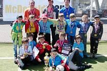 Vítězný tým kategorie A - mužstvo ZŠ Chlumec nad Cidlinou dominovalo v soutěži žáků prvních až třetích tříd.
