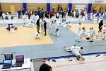 Mítink mladých judistů v třebešské sportovní hale v Hradci Králové.