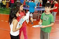 Příjemně strávený den - vyučování plné pingpongu a zábavných úkolů.