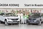 Zahájení sériové výroby nového modelu Škoda Kodiaq v závodě v Kvasinách.