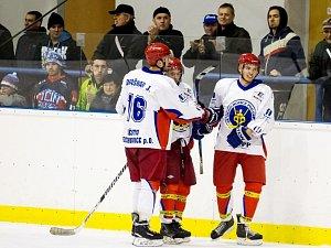 Krajská hokejová liga - semifinále play off: SK Třebechovice pod Orebem - HC Jaroměř.