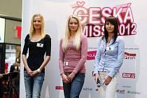 Královéhradecký casting na Českou Miss 2012 se včera konal vobchodním centru Atrium na Dukelské třídě. Odborná porota uslečen hodnotila vzhled, souměrnost postavy, jejich projev, dosavadní modelingovou kariéru, komunikativnost aznalost cizích jazyků.