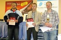 Zprava vítěz Aleš Jedlička, druhý Sergey Grishchenko z Ruska a třetí Mikhall Ivanov rovněž z Ruska.