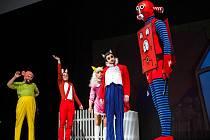 Zkouška představení Čtyřlístek! v královéhradeckém Klicperově divadle.