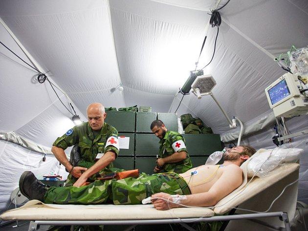 Cvičení vojenských zdravotníků Vigorous Warrior v Hradci Králové.