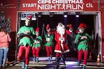 Čeps Christmas Night Run v Hradci Králové.